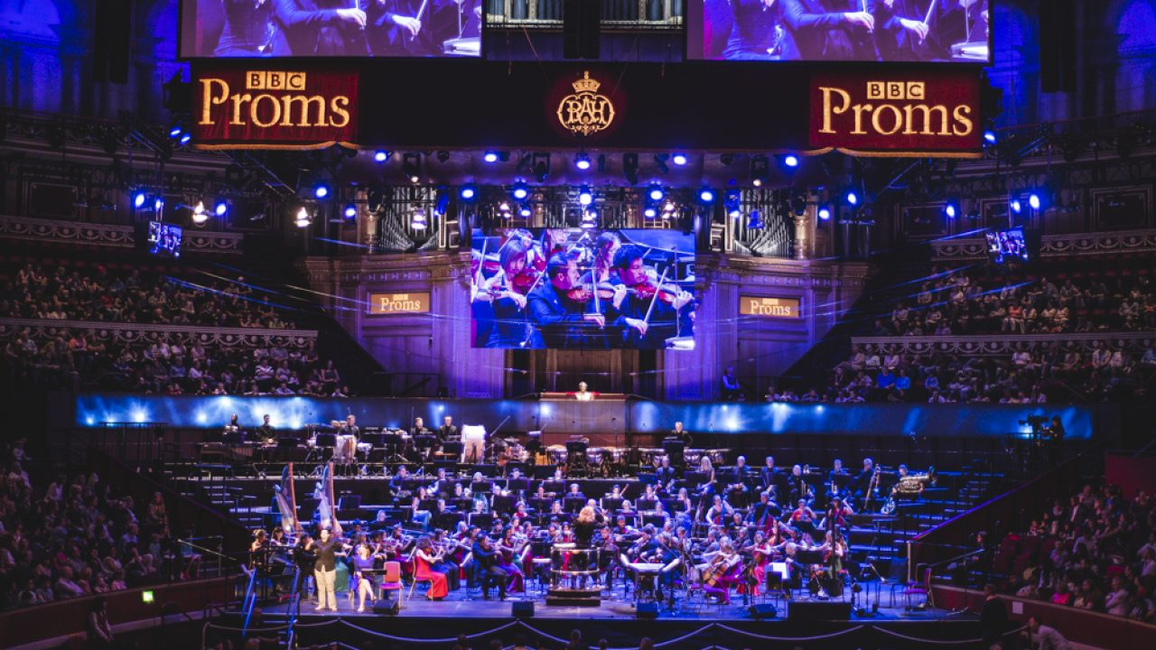 The BSO performs regularly in London, as seen here at the BBC Proms in 2018, with our guests seated in boxes