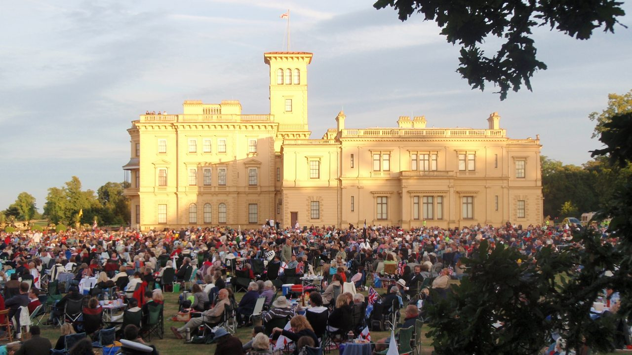 We do outdoor concerts really well; BSO performing here at Osborne House on the Isle of Wight