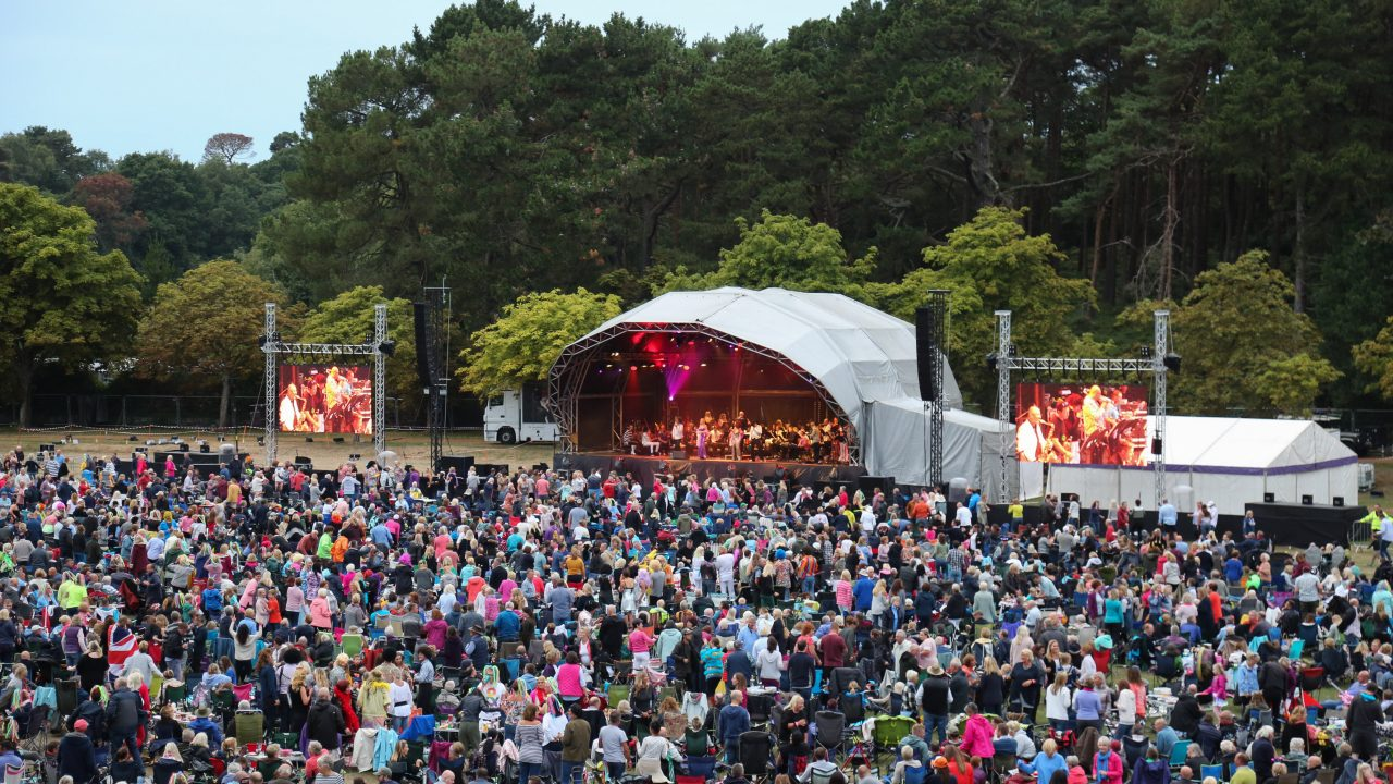 BSO Proms in the Park 2018, Disco Symphonic Spectacular at Meyrick Park, Bournemouth