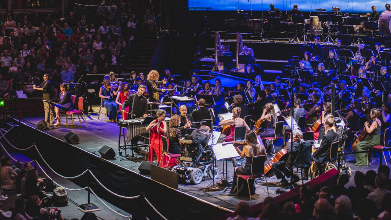 BSO Resound performing at the 2018 BBC Relaxed Prom in the Royal Albert Hall