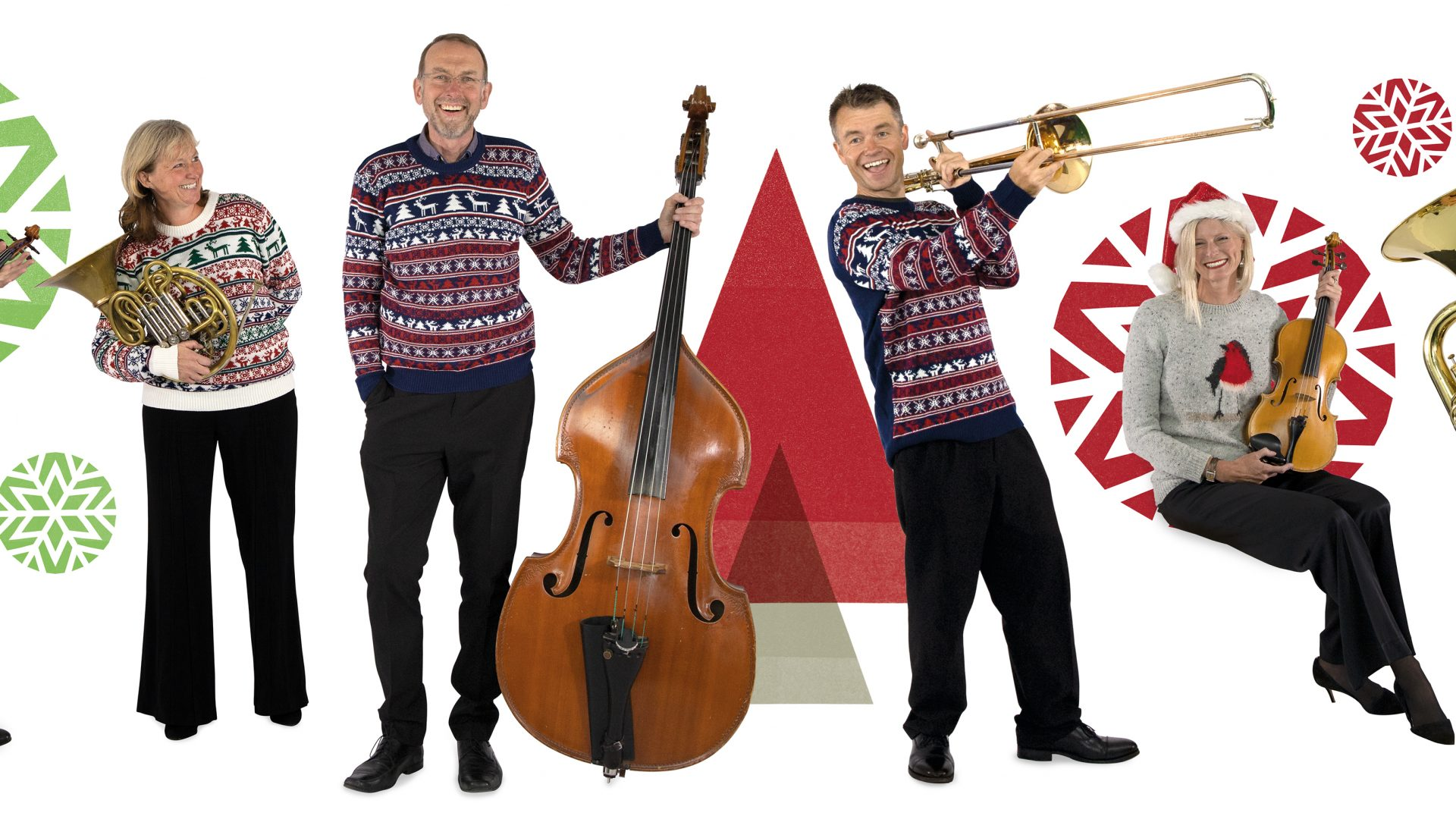 BSO players in Christmas jumpers