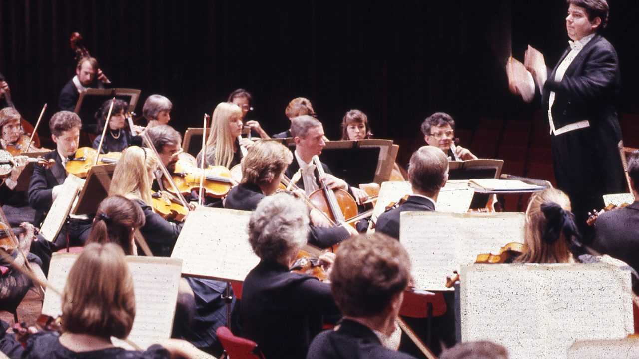 Roger playing with the Orchestra, Andrew Litton conducting