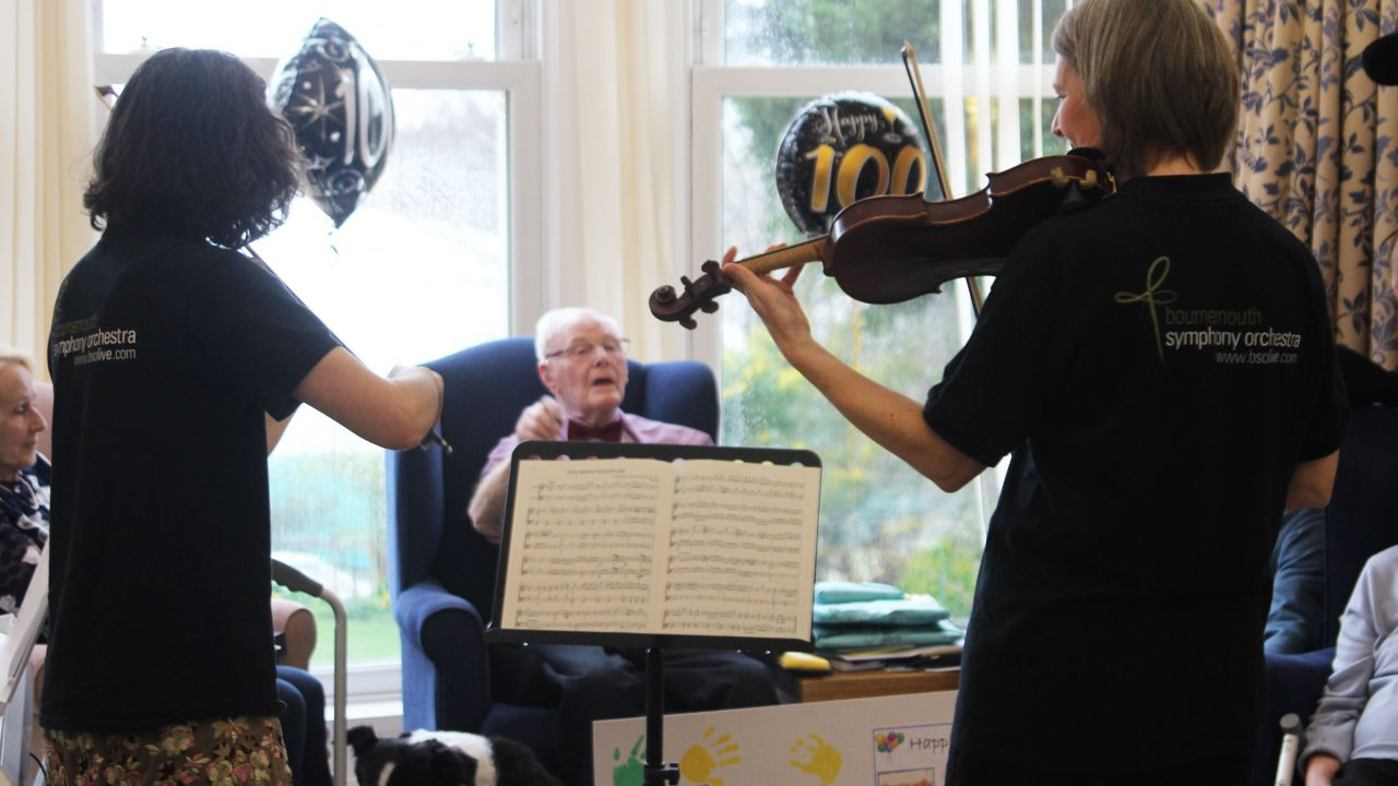 Thank you for the music! Arthur celebrates positive lease of life on 100th birthday