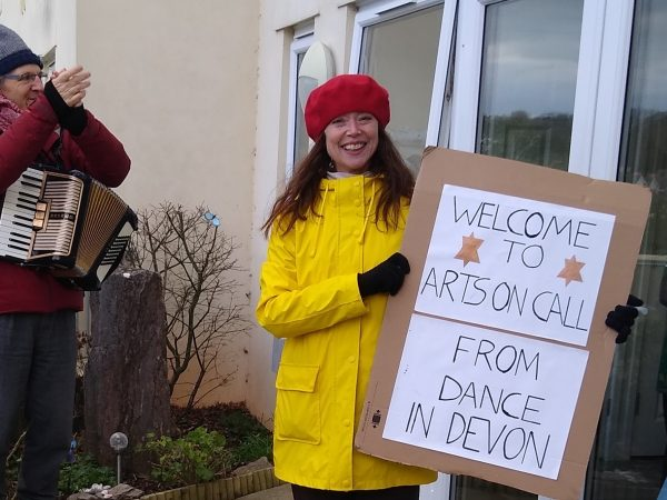 'Bring me Sunshine!': Devon care home residents enjoy music and dance on a chilly day